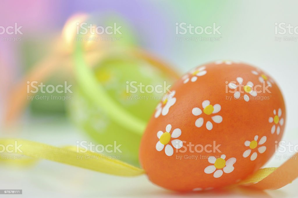 Easter Eggs and Ribbons royalty-free stock photo