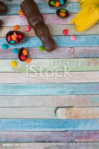 istock easter eggs and tulips 903691106