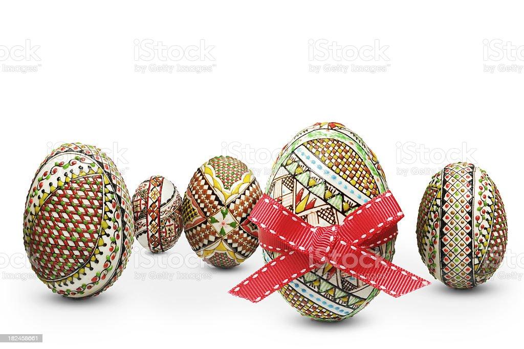 Huevos de Pascuas Arreglo foto de stock libre de derechos