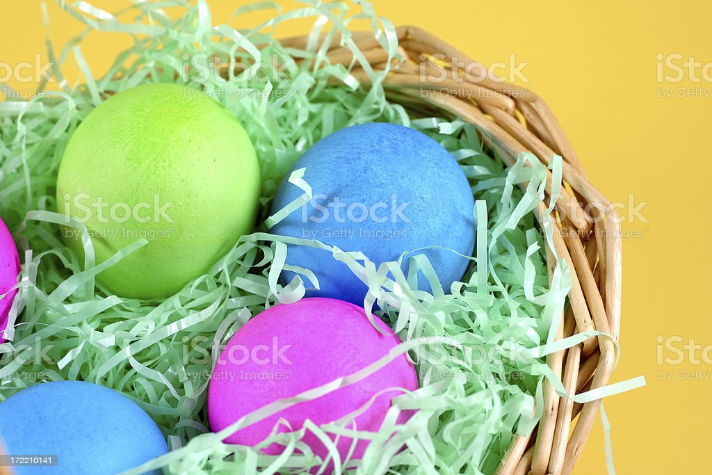 Easter eggs close up. royalty-free stock photo