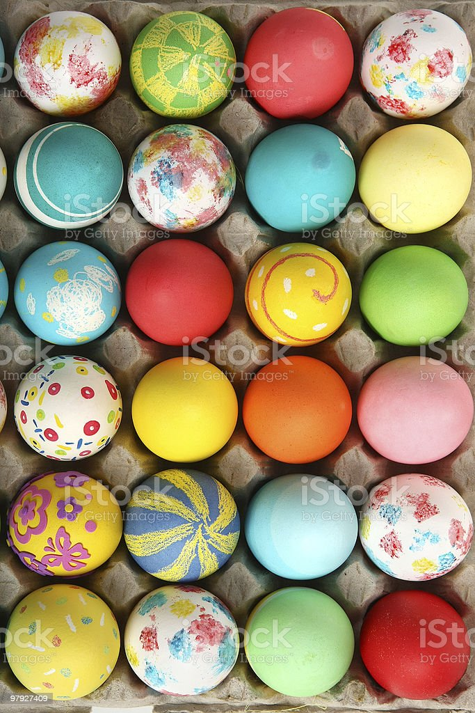 Easter eggs collection royalty-free stock photo