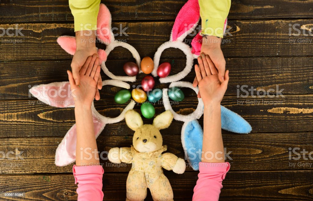 Easter Eggs Color Egg Assortment Shop Online For Happy Easter Decoration Mother Father And Kid Painting Easter Eggs Stock Photo Download Image Now Istock