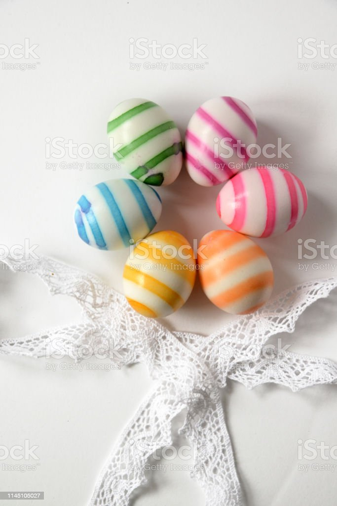 Easter Eggs Colored In The Colrs Of The Rainbow Stock Photo Download Image Now Istock