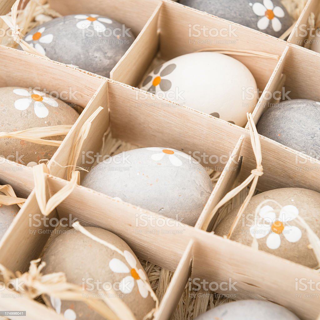 Easter eggs composition royalty-free stock photo