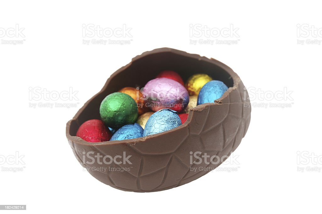 Easter eggs contained within royalty-free stock photo