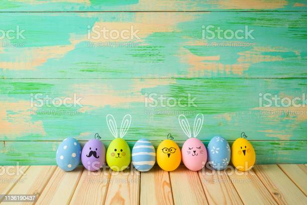 Easter eggs decorations on wooden table over colorful background picture id1136190437?b=1&k=6&m=1136190437&s=612x612&h=a0biayrmrzsrg9fcepfsuu gbb5mw ju7difux9qhgc=