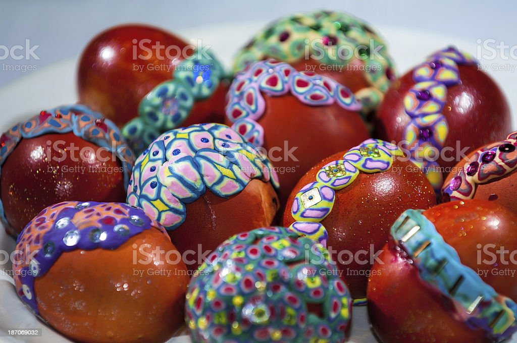 Easter eggs, hand-painted royalty-free stock photo