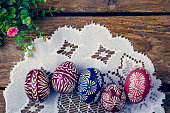 Easter eggs hand-painted