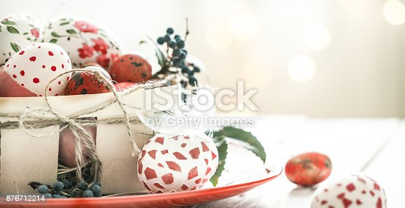 istock Easter eggs in basket 876712214
