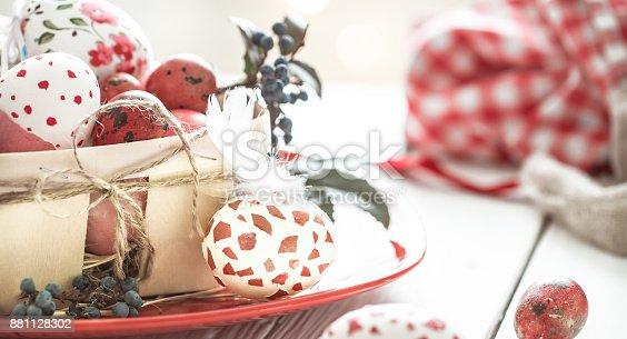 istock Easter eggs in basket 881128302
