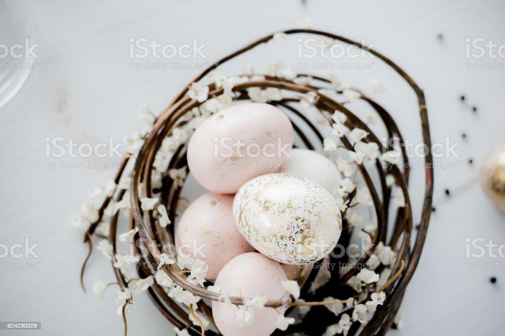 Easter eggs in nest – Foto