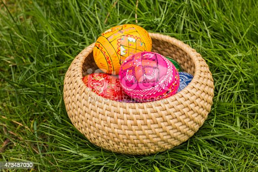 925481382 istock photo Easter Eggs in the basket 473487030