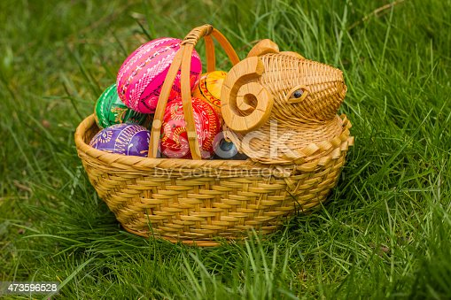 istock Easter Eggs in the basket 473596528