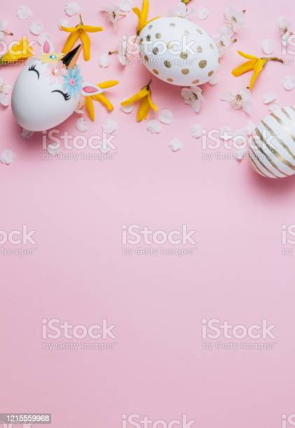 Easter eggs in the form of a unicorn and eaggs with gold pattern on picture id1215559968?b=1&k=6&m=1215559968&s=612x612&h=1vhthlrr6hzothq1owlud1ckdapkvzxd neuqvbwoic=