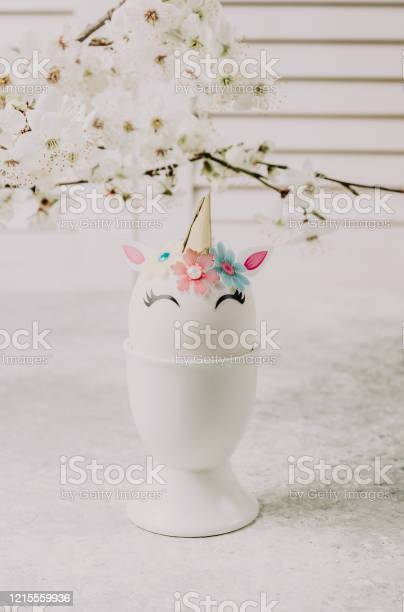 Easter eggs in the form of a unicorn on light gray table happy easter picture id1215559936?b=1&k=6&m=1215559936&s=612x612&h=cvdpr iriu0eb0dki8gzctuyddu uoidhnqqjbeofcq=