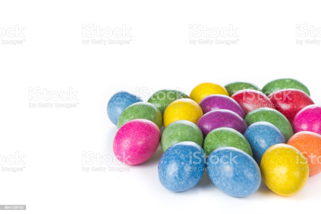 easter eggs isolated royalty-free stock photo