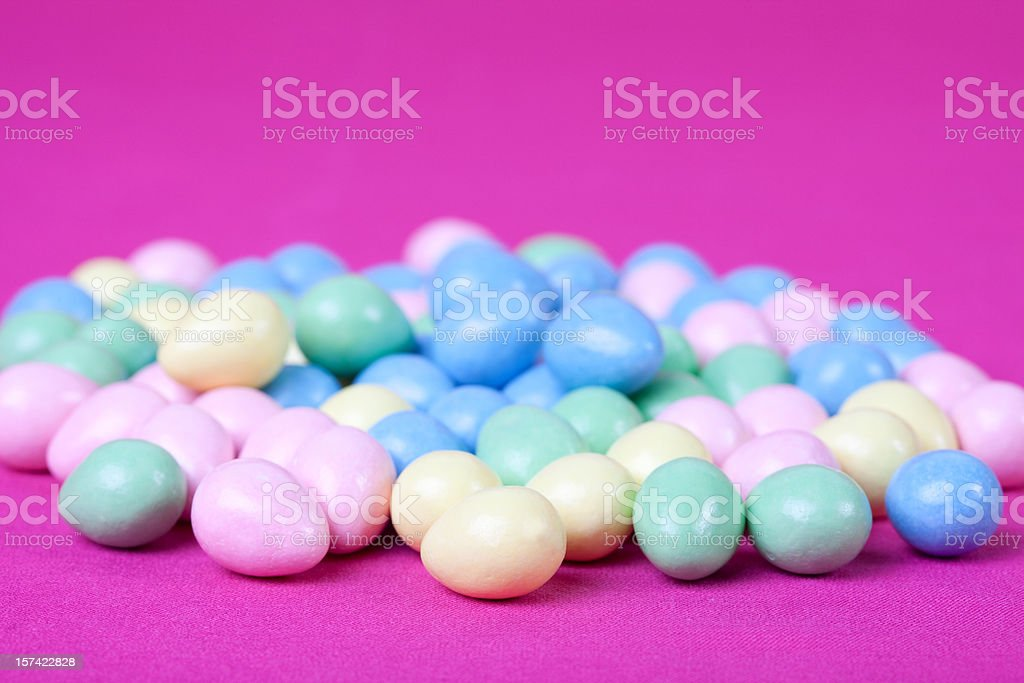 Easter Eggs On Pink stock photo