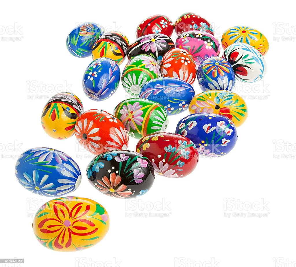 Easter eggs on white background royalty-free stock photo