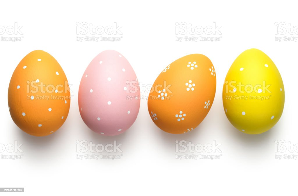 Easter Eggs on White stock photo