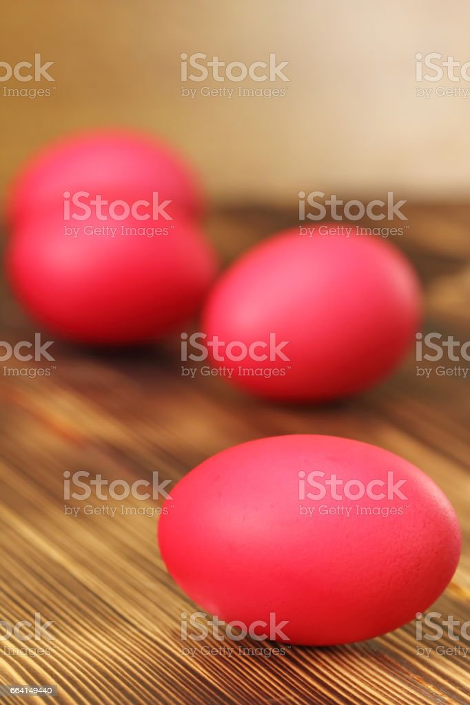Easter eggs on wooden background foto stock royalty-free