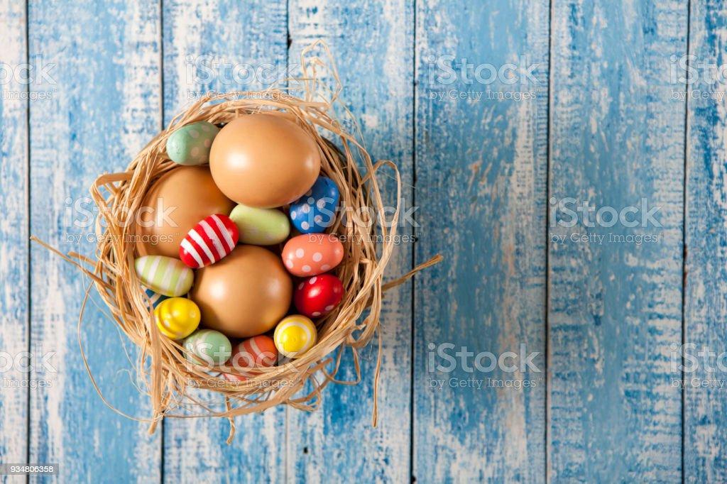 부활절 달걀 나무 배경 - 로열티 프리 0명 스톡 사진