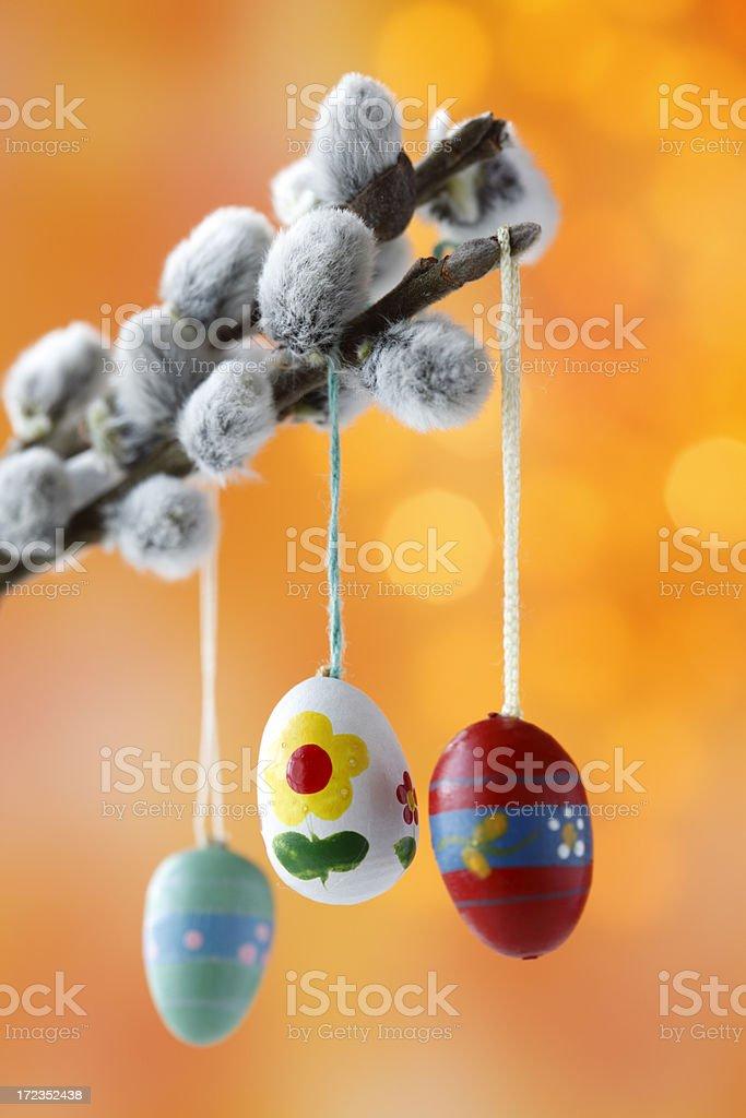 Huevos de Pascua foto de stock libre de derechos
