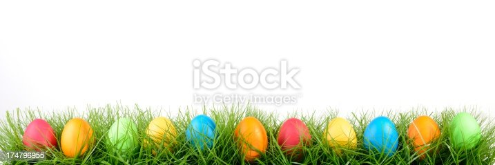 Some easter eggs in a rowEaster