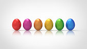 Colorful easter eggs icon isolated vector illustration