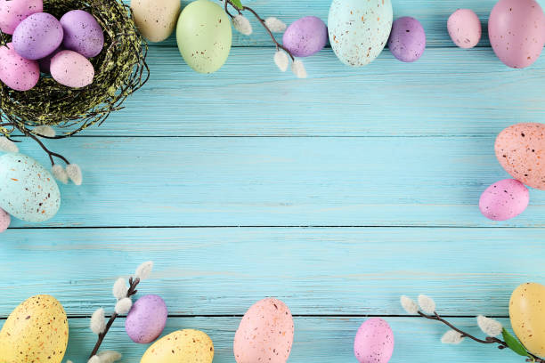 easter eggs - easter stock pictures, royalty-free photos & images