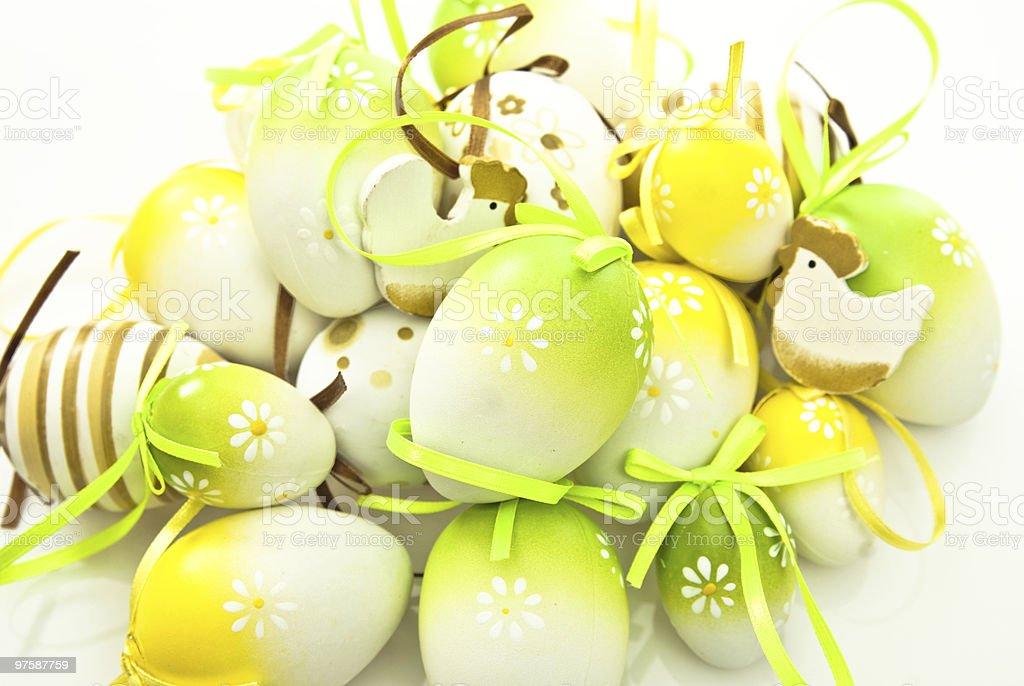 easter eggs royaltyfri bildbanksbilder