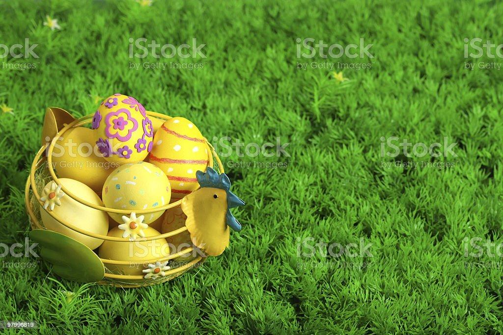 Easter eggs royalty free stockfoto