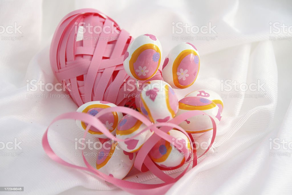 easter eggs pink royalty-free stock photo