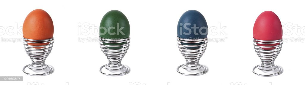 Easter eggs set royalty-free stock photo