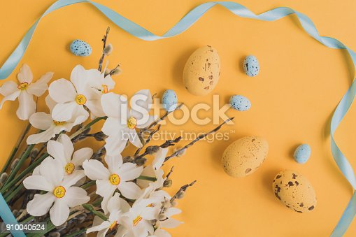 istock Easter eggs willow branches 910040524