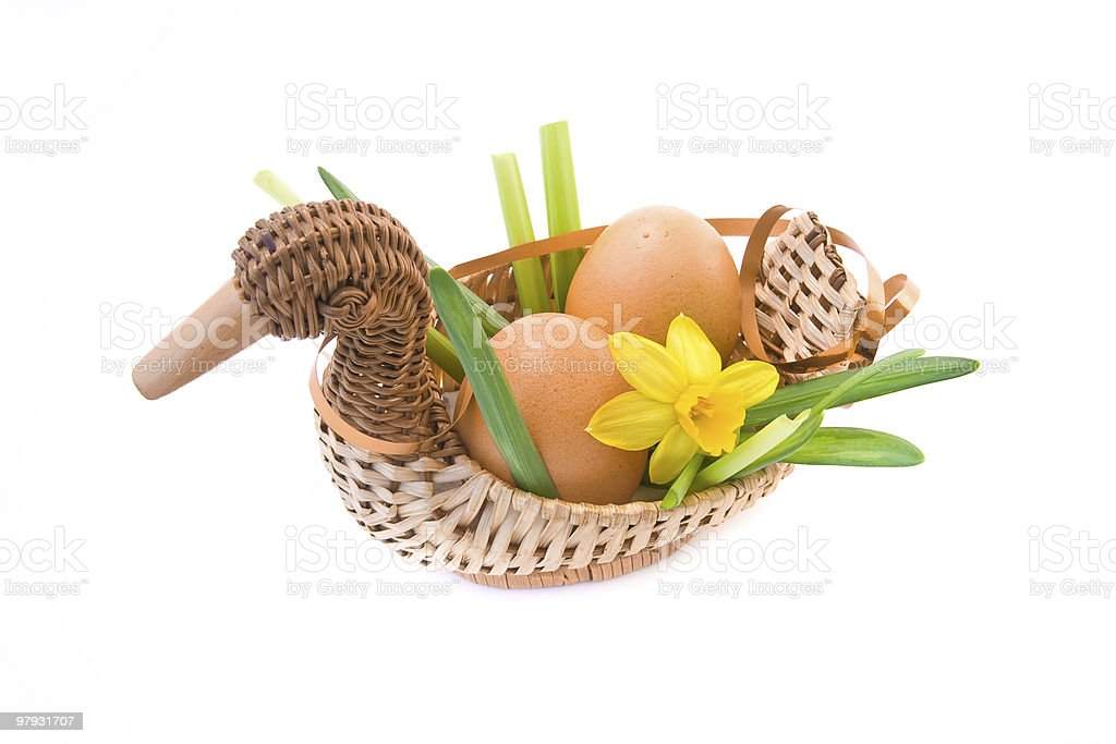 easter eggs with decoration royalty-free stock photo