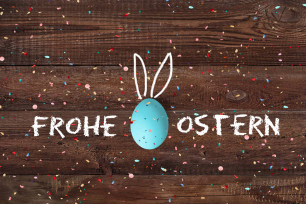 Ostereier mit Botschaft