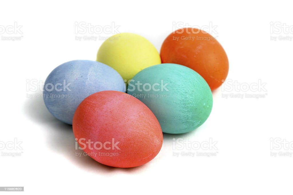 Easter Eggs With Path royalty-free stock photo