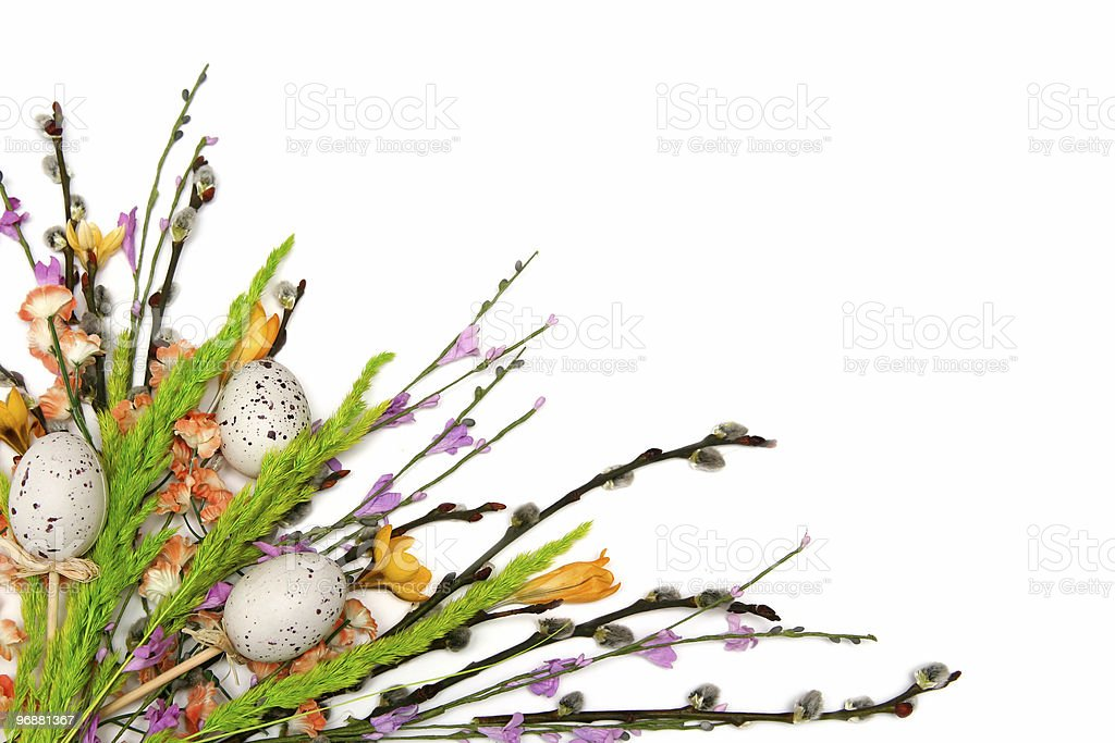 Ostern Blumen-arrangement Lizenzfreies stock-foto