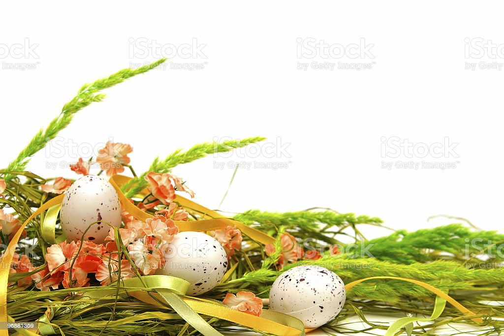 Easter floral arrangement royalty-free stock photo