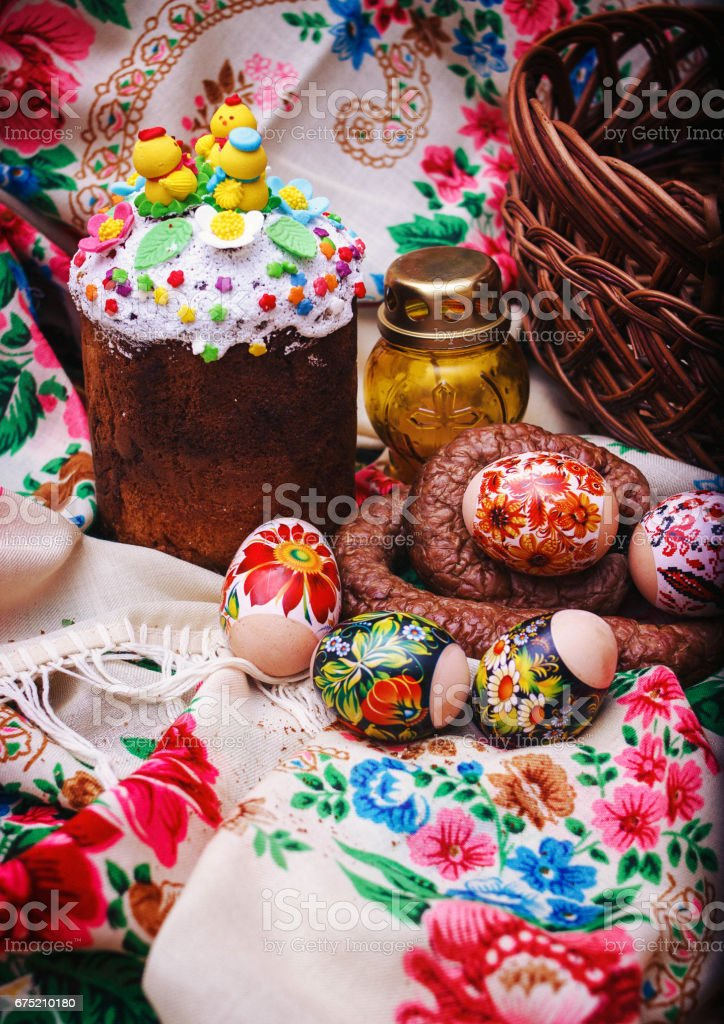 Easter food for horses royalty-free stock photo