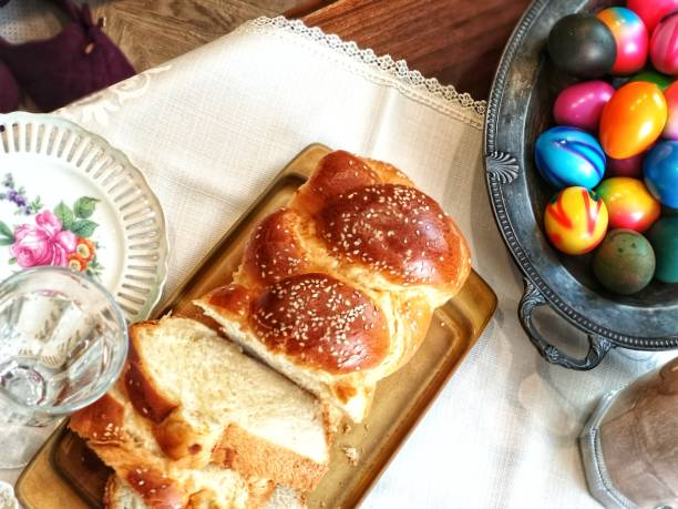 Easter food stock image stock photo