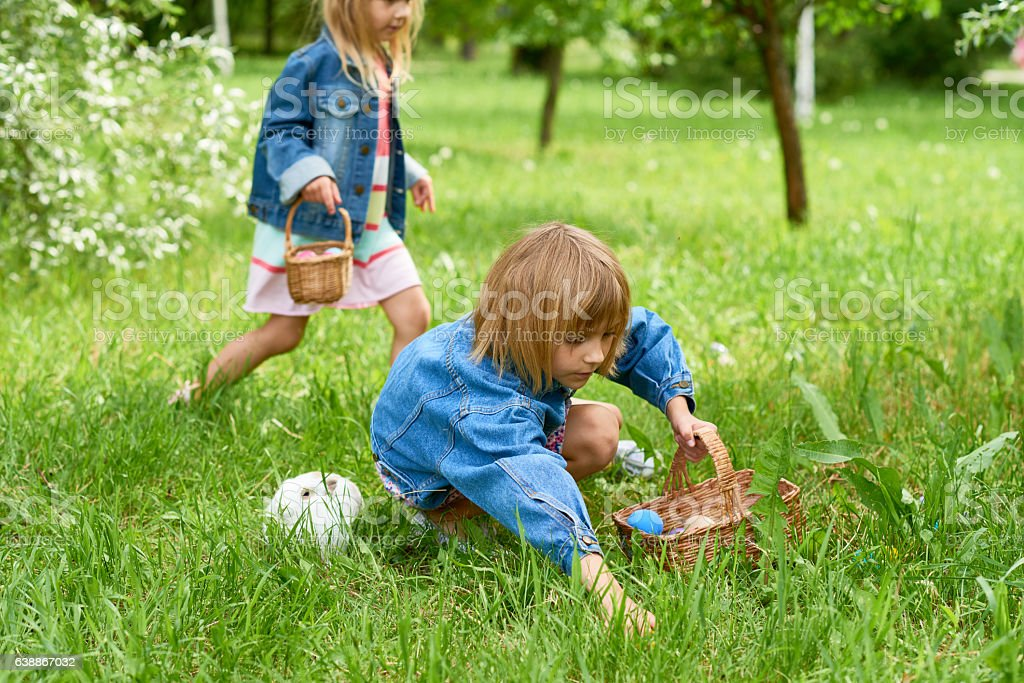 Easter game stock photo