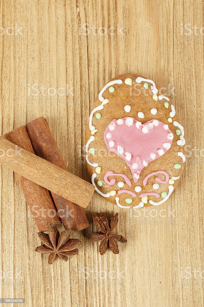 easter gingerbread, cinamon and star anise royalty-free stock photo
