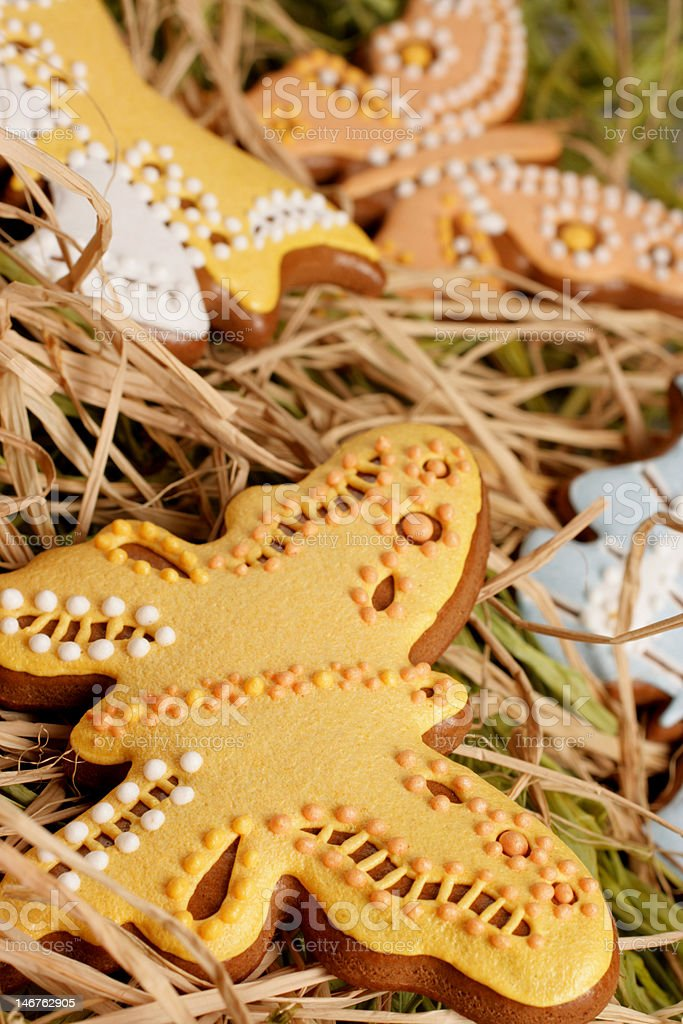 Easter gingerbread decoration royalty-free stock photo