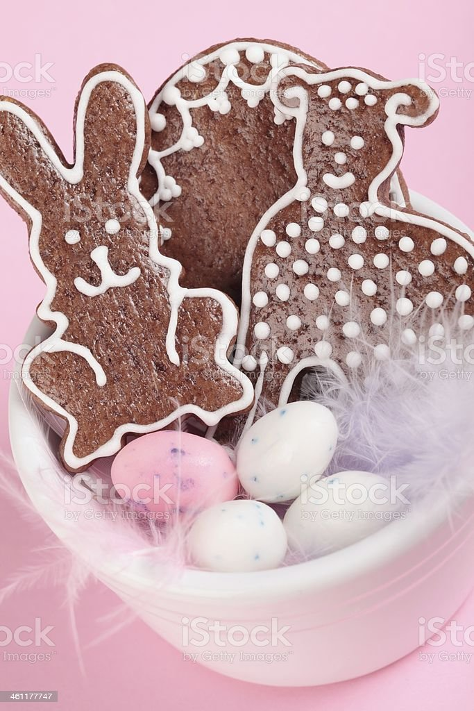 Easter gingerbread royalty-free stock photo