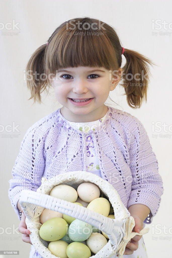 Fille de Pâques photo libre de droits