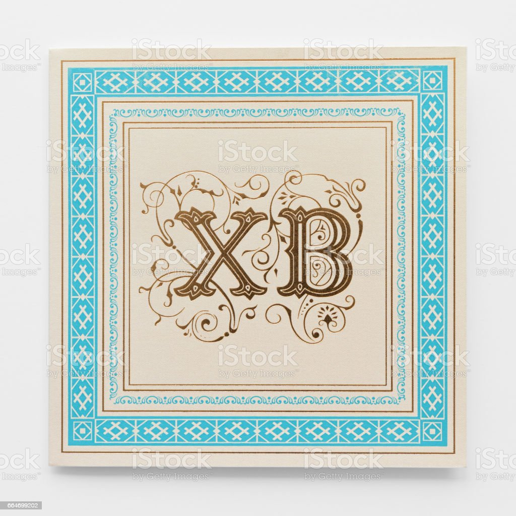 Easter Greeting Card Design With XB Lettering Print On A Paper Gold Foil Postcard Or Invitation Template