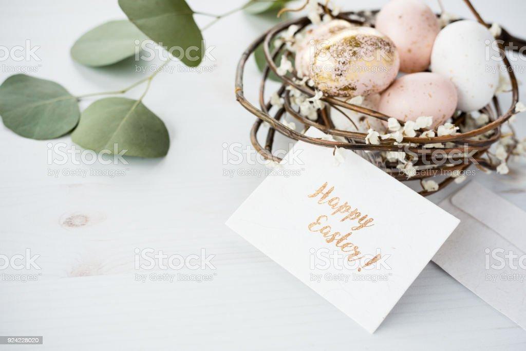Ostern Grußkarte mock-up – Foto