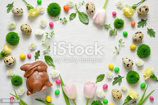 istock Easter greeting card template 896849168