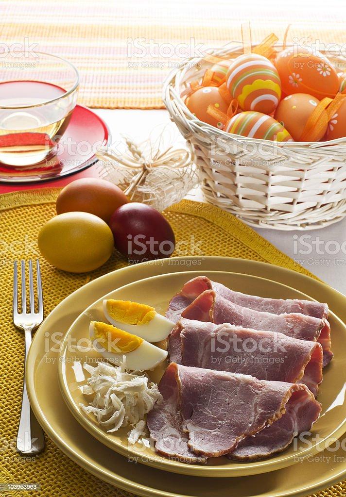 Easter ham stock photo